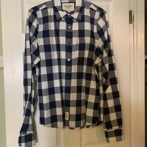 Abercrombie and Fitch Button Down Navy/White